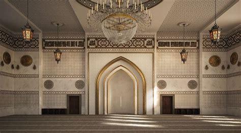 interior masjid el zaidan mosque interior design on behance mosque