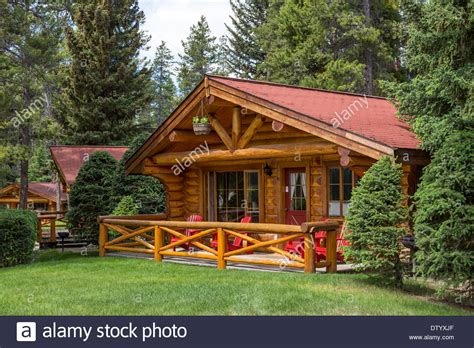 a cottage in the woods at the alpine village resort in