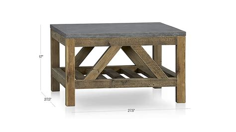 bluestone reclaimed wood large kitchen island crate and bluestone square coffee table crate and barrel