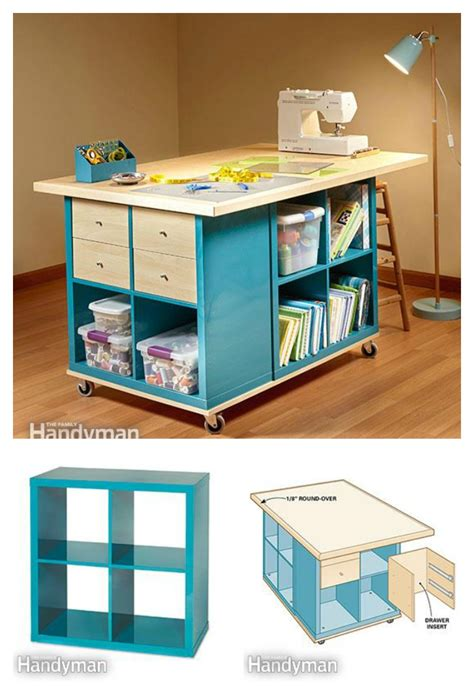 diy ikea storage inattendu diy craft room table with ikea furniture under budget