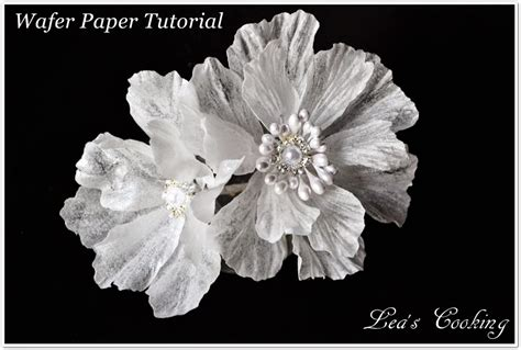 How To Make Wafer Paper Flowers - wired wafer paper flower tutorial bigdiyideas