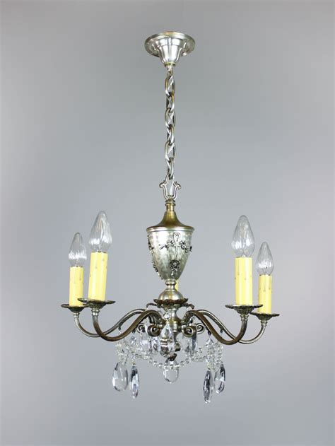 Swag Chandelier Lighting Colonial Revival Swag Chandelier 5 Light