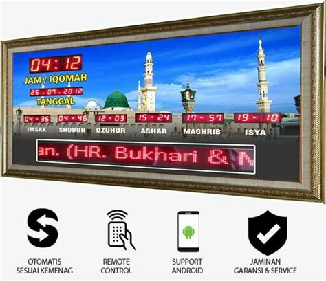Lu Running Text Jam Digital Masjid Running Text Kontrol Dengan Android