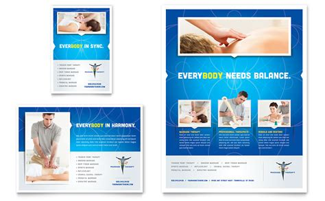 Reflexology Massage Flyer Ad Template Word Publisher Microsoft Flyer Templates