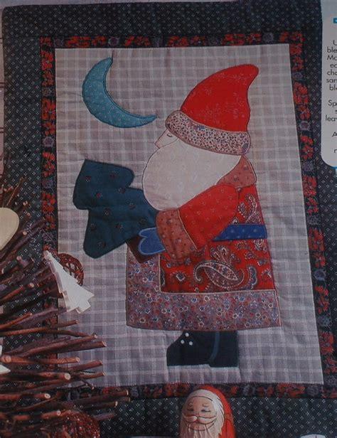 Santa Quilt Pattern by Santa Claus Patchwork Machine Applique