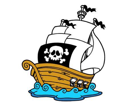 dibujos animados barcos piratas dibujo de barco de piratas pintado por en dibujos net el