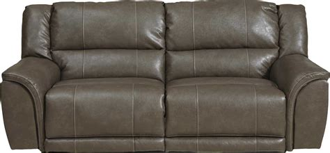 catnapper sectional catnapper carmine lay flat reclining sofa smoke cn 4151