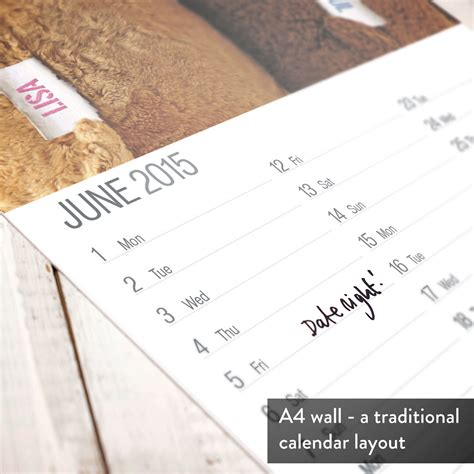 Anniversary Calendar Personalised Anniversary Calendar Gettingpersonal Co Uk