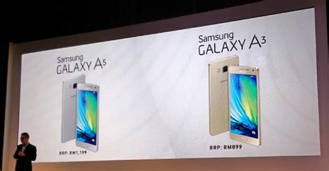Handphone Samsung A5 Malaysia samsung galaxy a5 and galaxy a3 officially launched on included technave