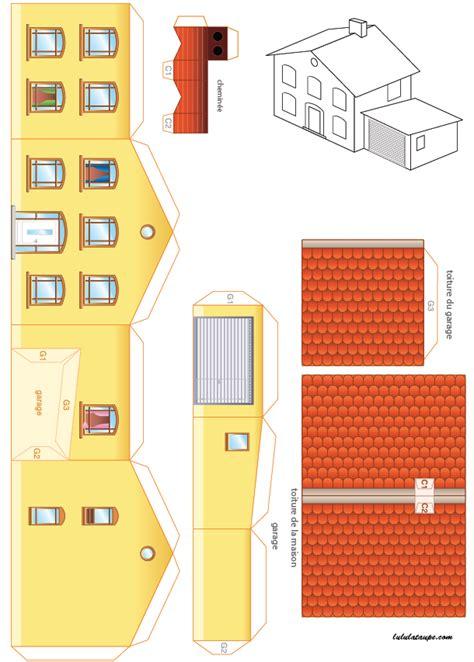 Maison 224 Imprimer Et 224 D 233 Couper Lulu La Taupe Jeux