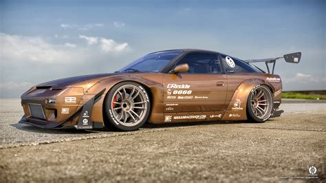 nissan 240sx rocket rocket bunny 240sx front by dangeruss on deviantart