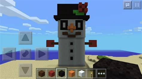 my snowman i made on minecraft pe minecraft pe pinterest