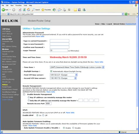 how to update belkin wireless router the belkin n wireless modem router f5d8635uk4a pictures