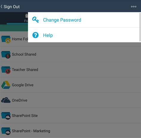 change password on android 187 changing your password android support foldr free your files