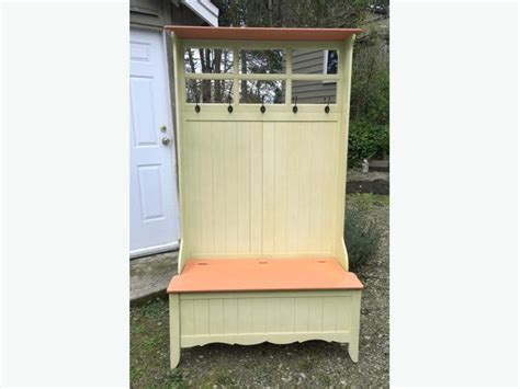 deacon bench with storage coat rack with storage deacon s bench style duncan cowichan