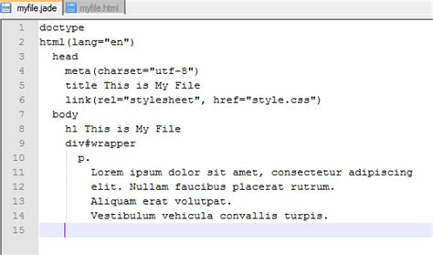 tutorial jade html how to convert jade to html learn web tutorials