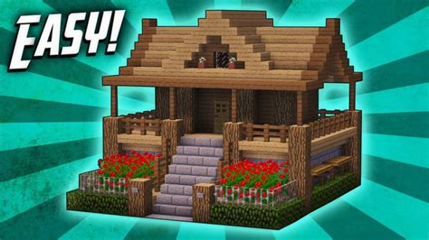 make a house online minecraft how to build a survival starter house tutorial