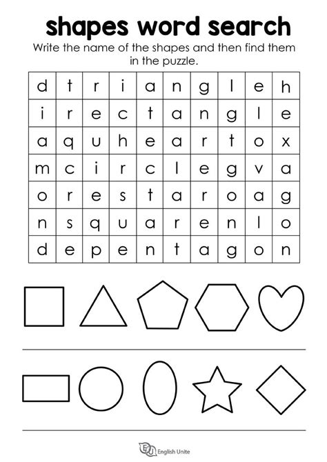 printable word searches in shapes shapes word search puzzle english unite english unite