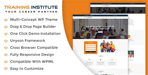wordpress themes for computer institute education training institute wordpress theme wpion