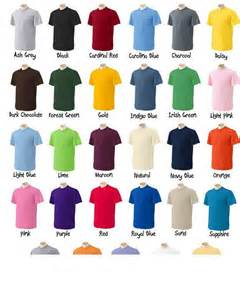 tshirt colors pictures for t shirt printing in honolulu hi 96815