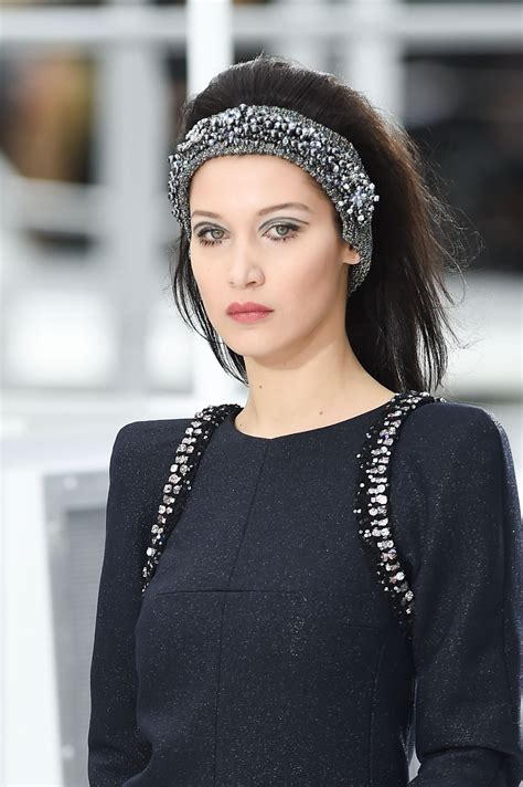 bella hadid bella hadid walks chanel show paris fashion week 3 7 2017