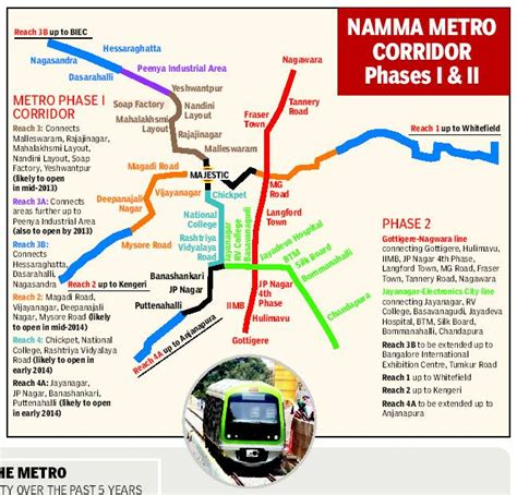 printable metro north tickets bangalore metro phase 2 whitefield route map metro map