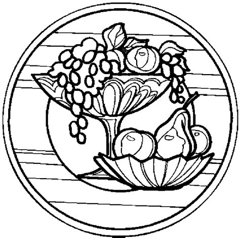 fruit bowl coloring page fruit bowl coloring coloring coloring pages