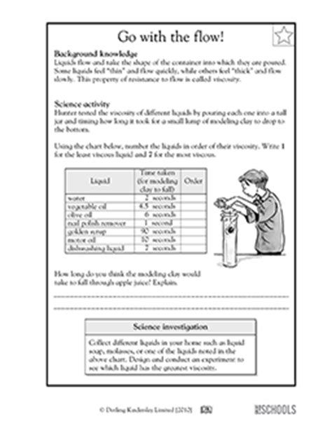 carbohydrates 5th grade 5th grade science worksheets viscosity of liquids