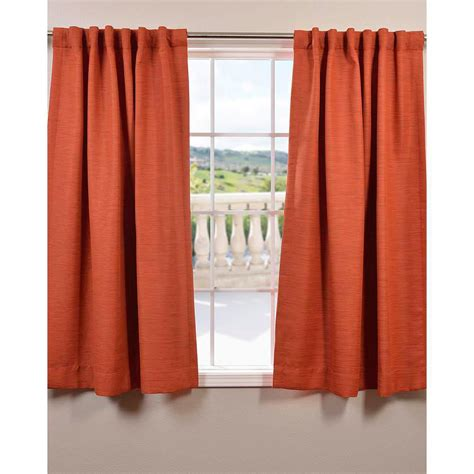 Orange Panel Curtains Exclusive Fabrics Furnishings 63 In L Polyester Curtain In Orange Panel Boch Pl1609 63