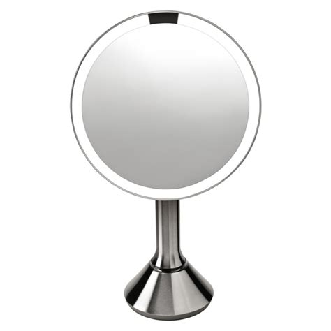 telescopic bathroom mirror simplehuman 5x telescoping sensor mirror the container store