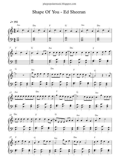despacito xylophone tutorial free piano sheet music shape of you ed sheeran pdf your