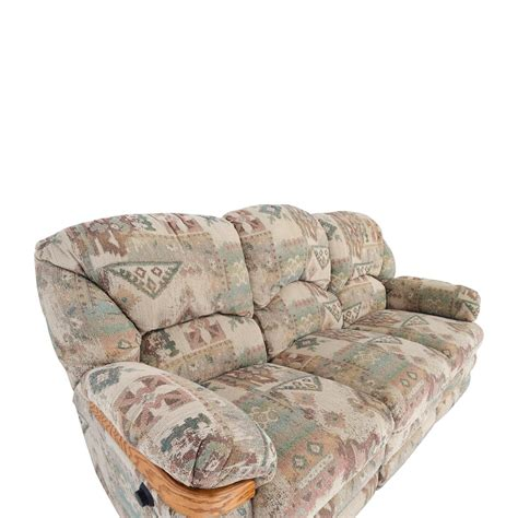 Patterned Sofas by 82 Patterned Fabric Recliner Sofa Sofas
