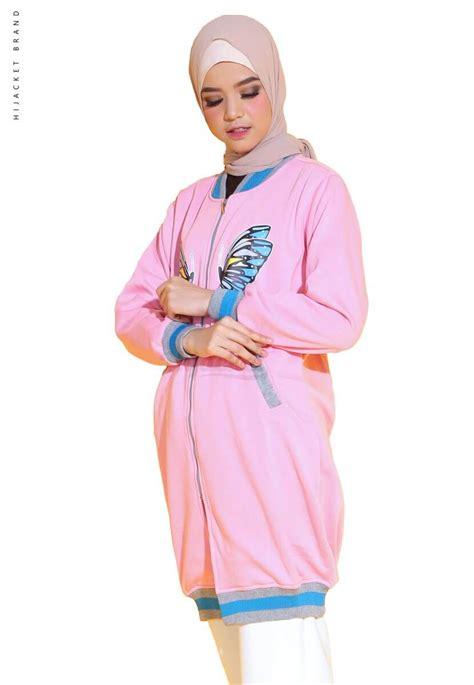 Hijaber Pink jaket hijaber butterfly pink hijacket jaket muslimah