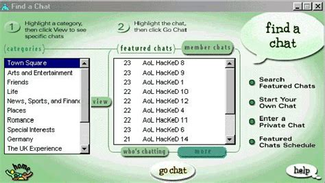 Www Aol Chat Rooms by Hackers Hit Aol Chat Room Listings
