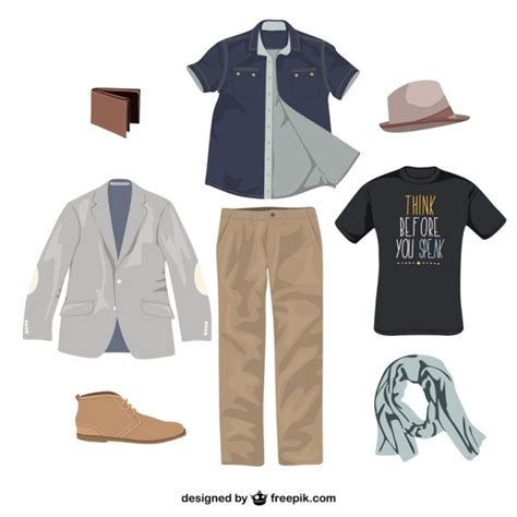 clothes vector design free download man clothes vector vector free download