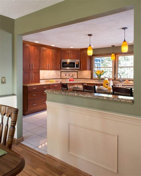 kitchen half wall ideas image result for half dining room kitchen wall don t