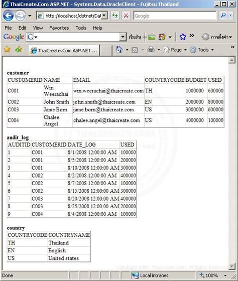 tutorial asp net oracle c asp net system data oracleclient dataset multiple
