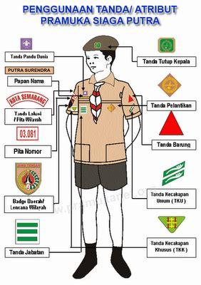 Tanda Harian Pramuka T1310 2 tanda tanda pengenal gerakan pramuka agustin scout