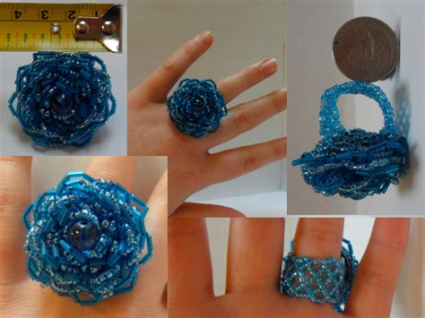 how to make a beaded ring blue beaded ring by lutheranchick on deviantart