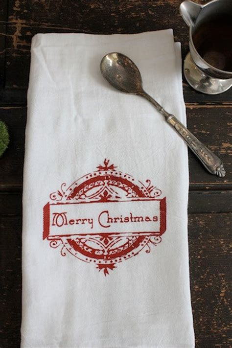 christmas towels  flour sack towel kitchen towel merry