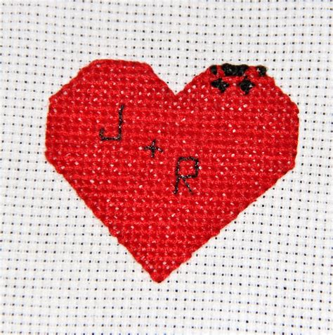 heart pattern for cross stitch cross stitch heart pattern needles and know how