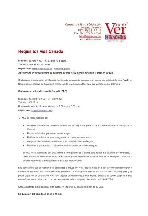visas canada documentaci 243 n tramites www viajesver
