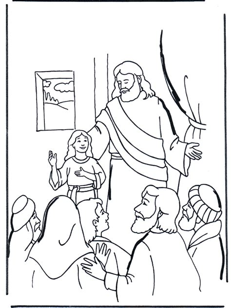 free coloring pages of jesus heals jairus