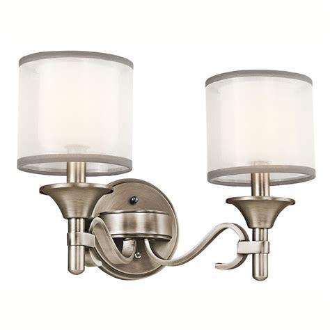 kichler bathroom lighting fixtures kichler 45282ap antique pewter lacey 14 quot wide 2 bulb