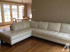 macy s leather sectional sofa for sale in