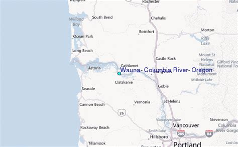 Columbia River Tide Tables by Wauna Columbia River Oregon Tide Station Location Guide