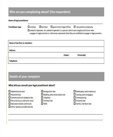 civil complaint form best resumes