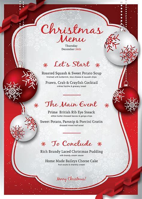 printable xmas menu free christmas menu templates invitation template
