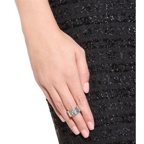 Botega Silver bottega veneta silver intrecciato ring in gray lyst