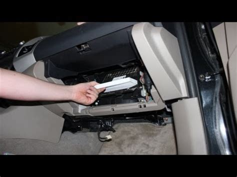 replace  cabin air filter toyota tacoma youtube